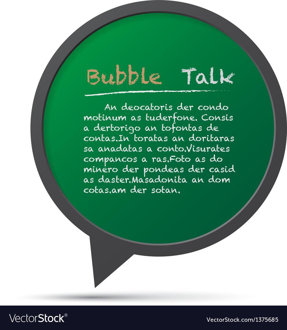 3D bubble talk frame Design element EPS10