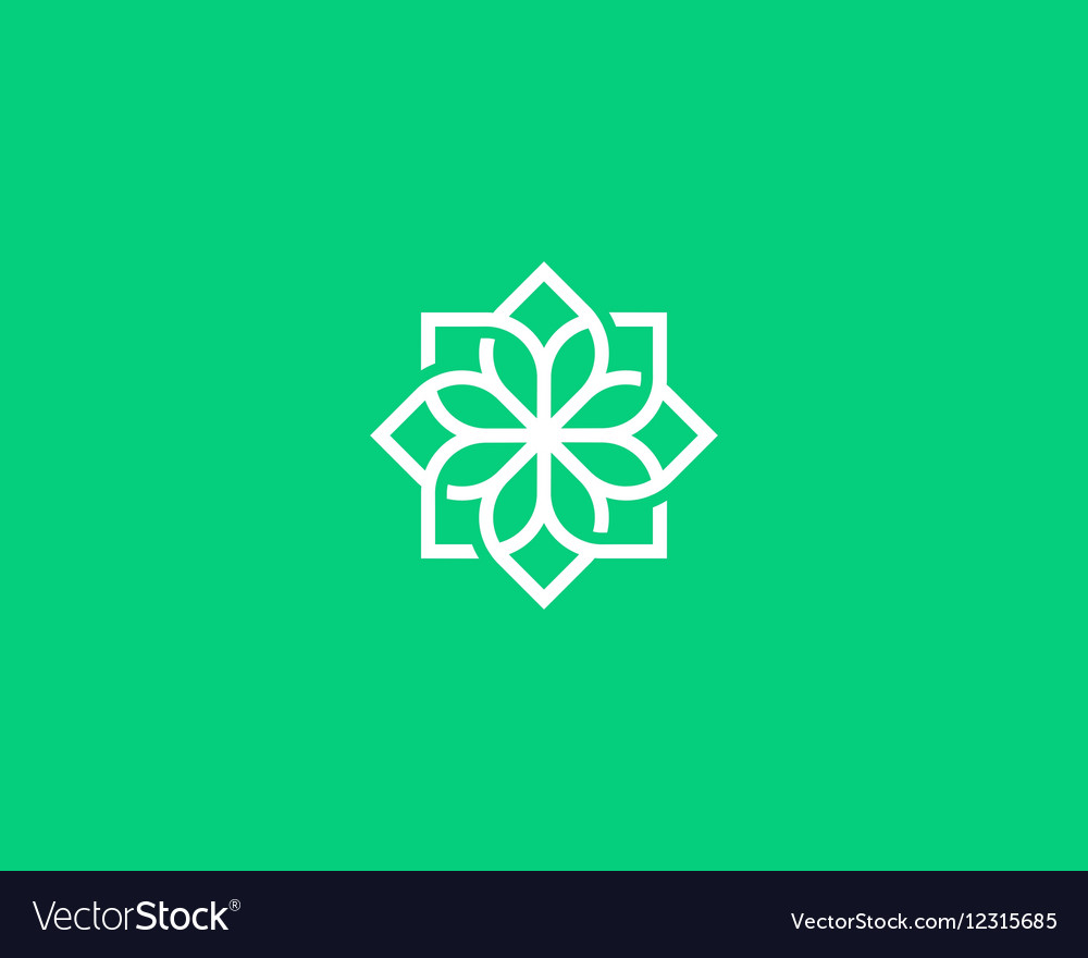 Abstract flower swirl logo icon design Elegant vector image