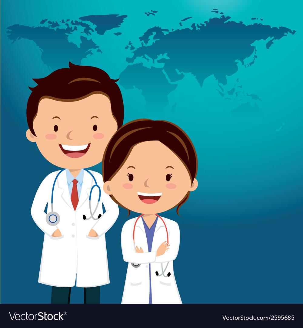 Cartoon Doctor Or Medical Career Royalty Free Vector Image
