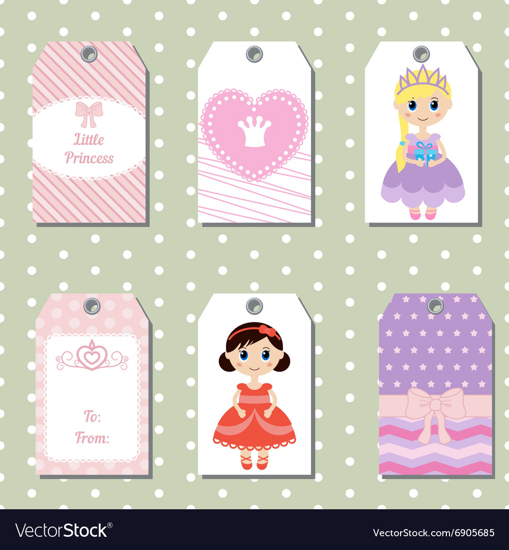 Cute creative cards with princess theme design