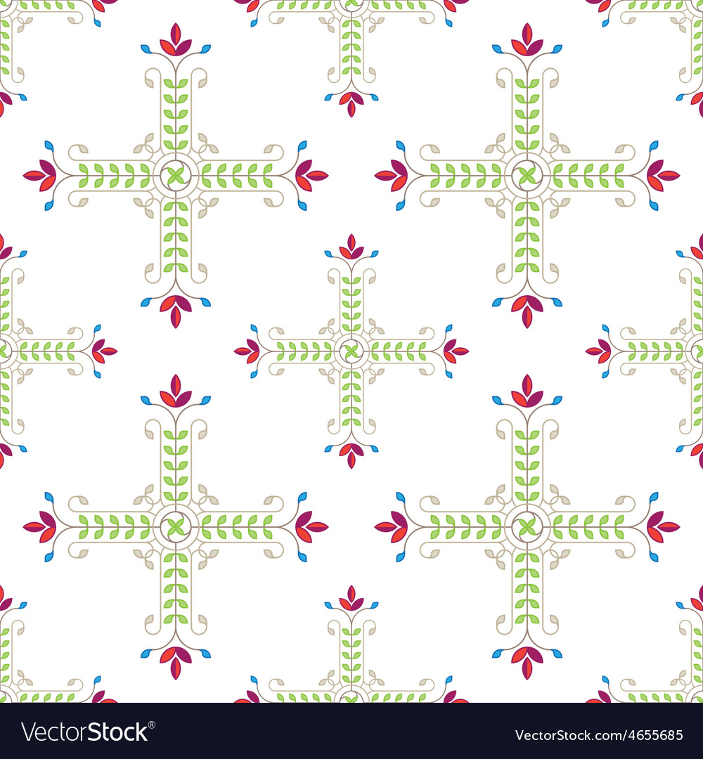 Elegant floral pattern with leafs and flowers