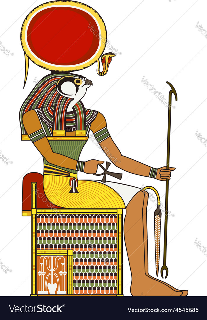 Horus Isolated Figure Of Ancient Egypt God Vector Image