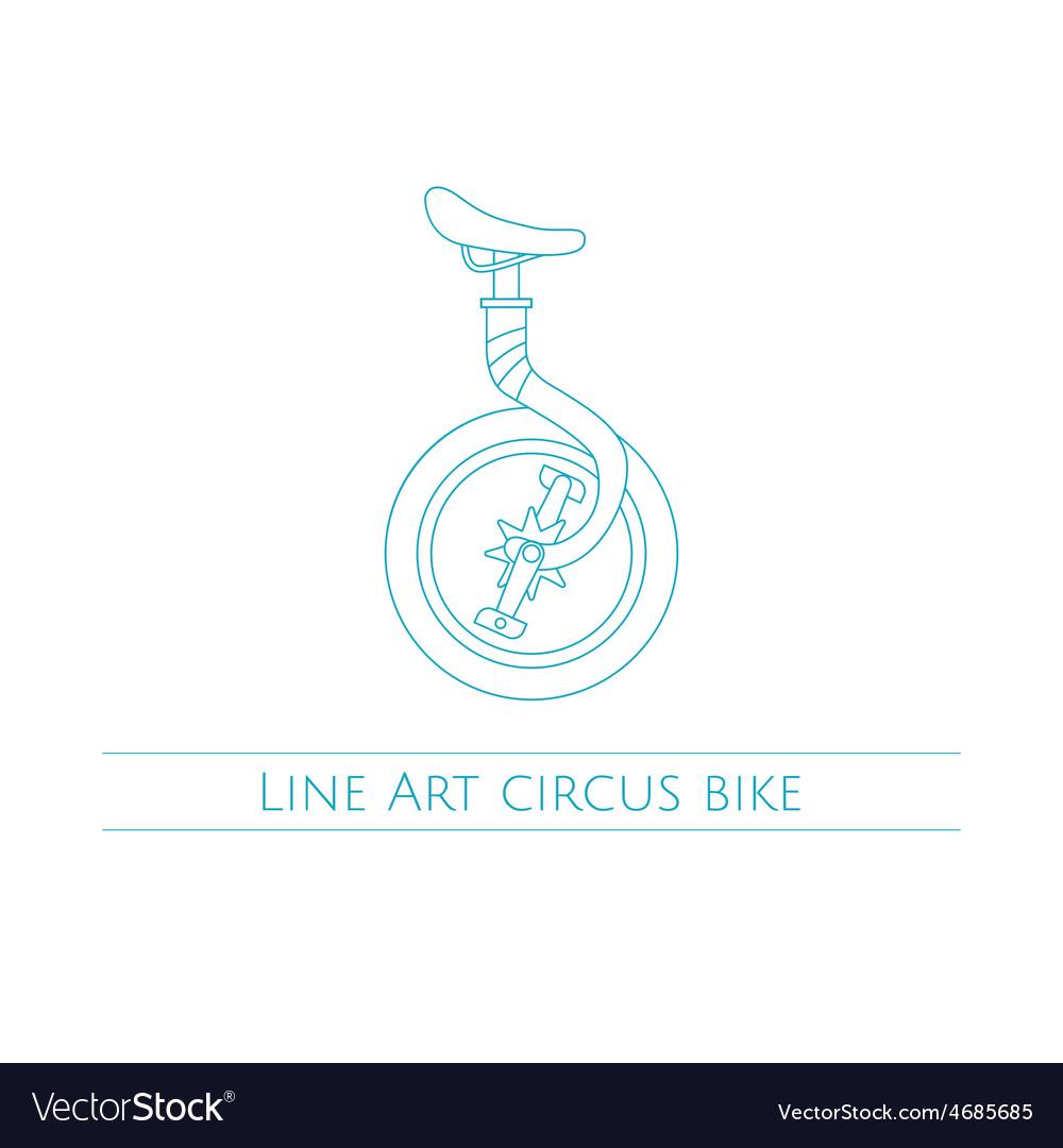 Line Art Circus Bike