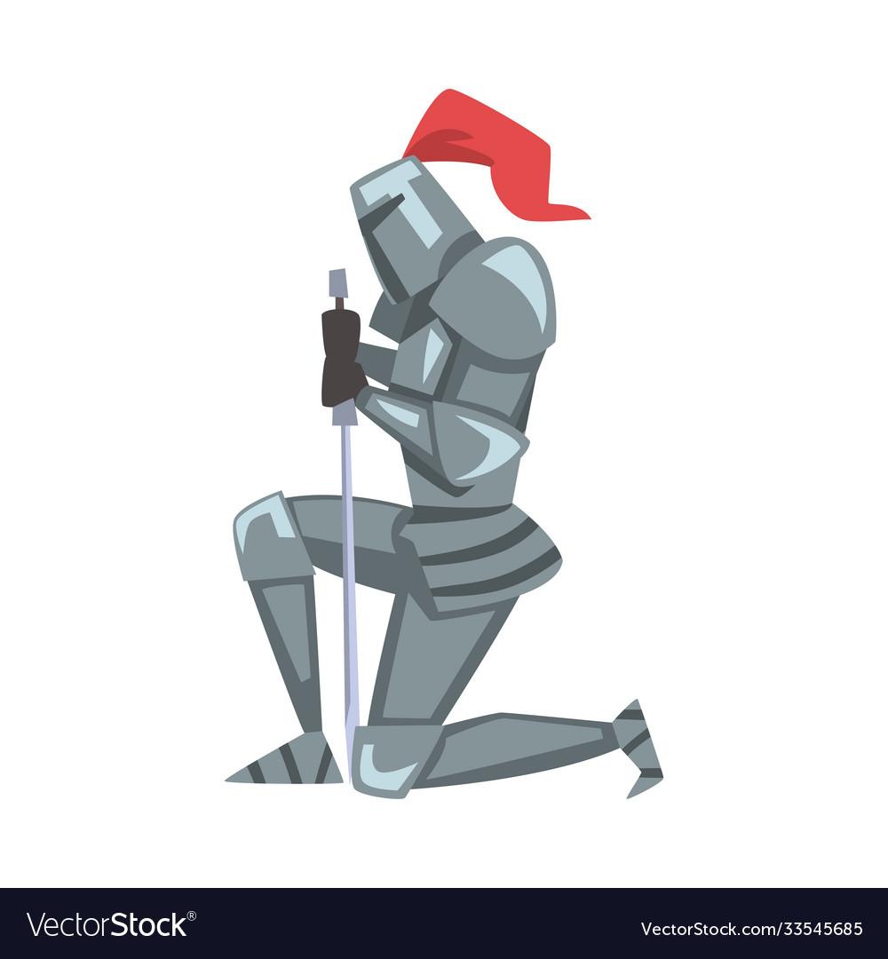 Kneel Knight Vector Images 21