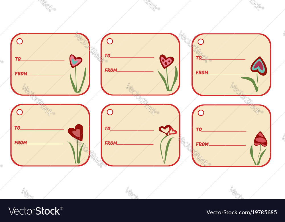 set of labels with lines for your text gift tags vector image