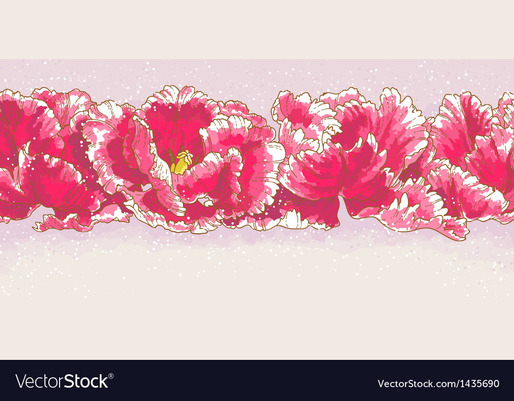Background with three red tulips