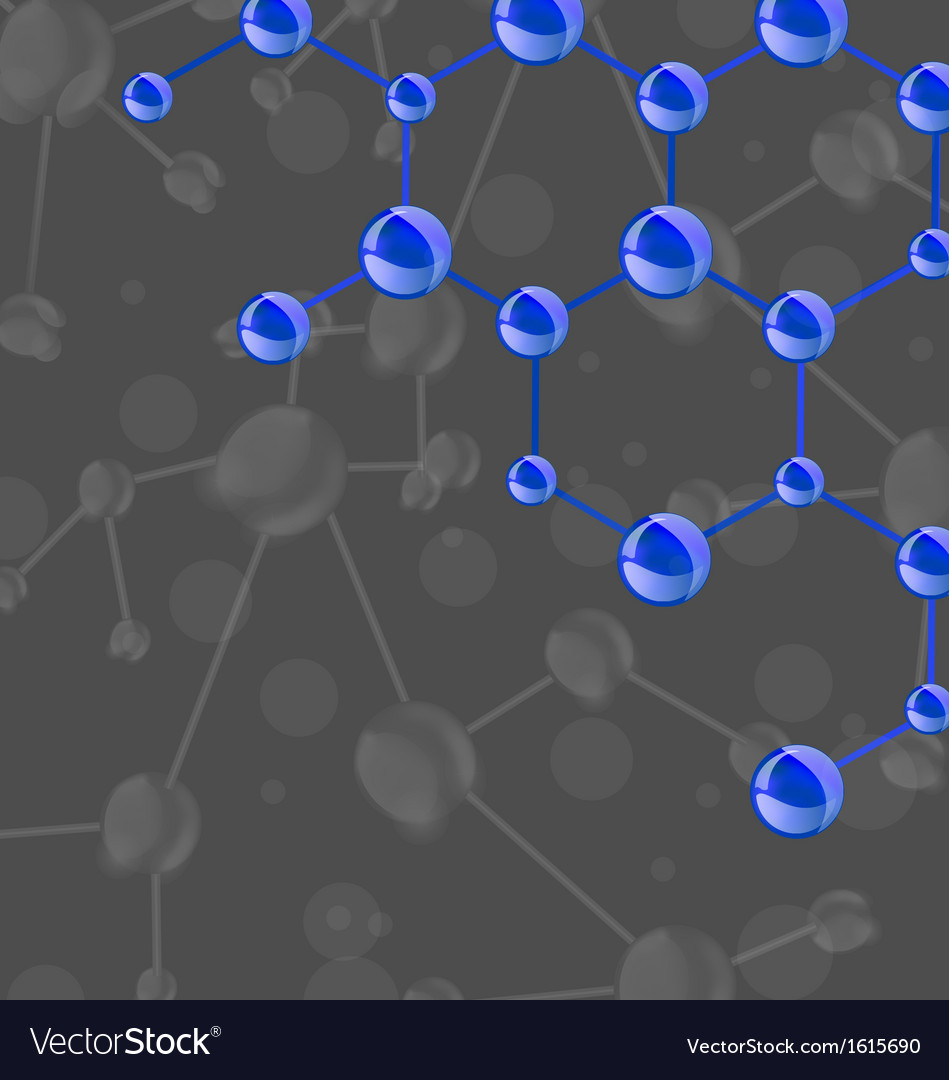 Blue molecular structures chain