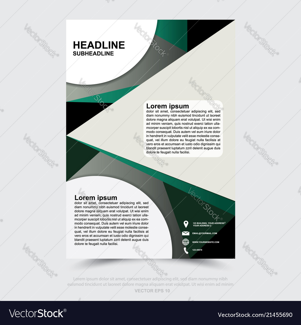 Design of business brochure poster web banner