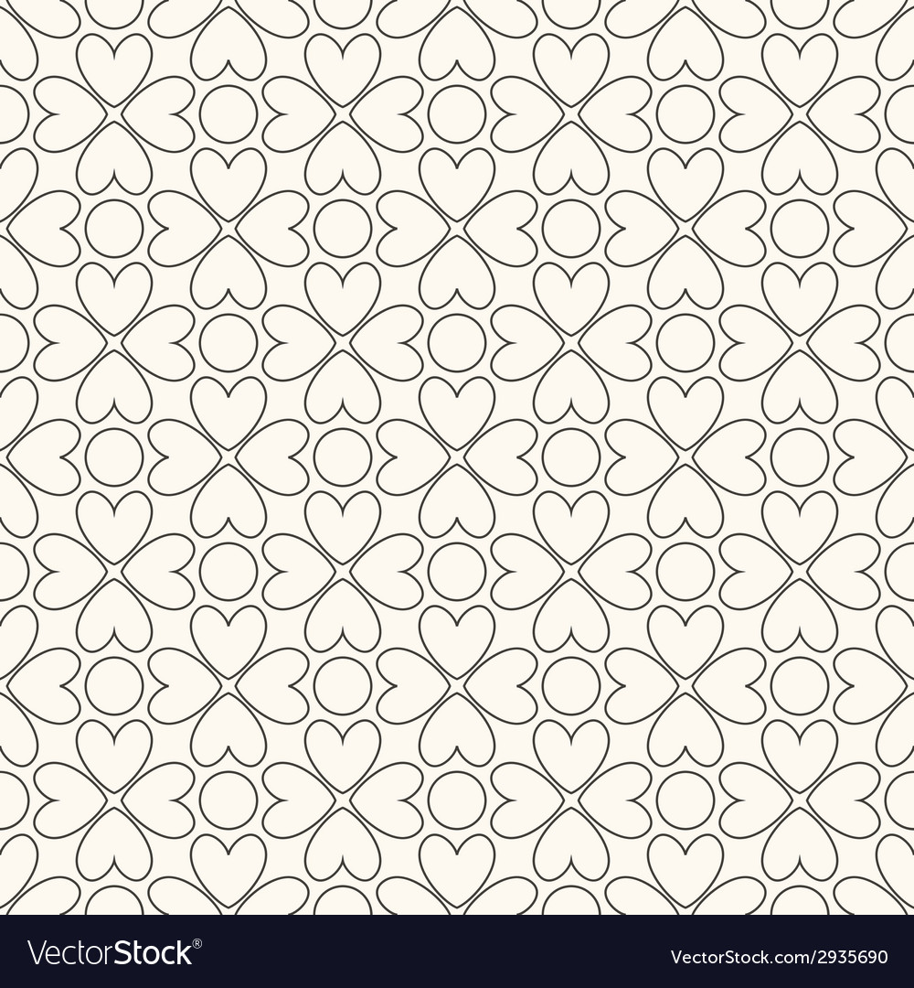Floral seamless pattern Black and white colors