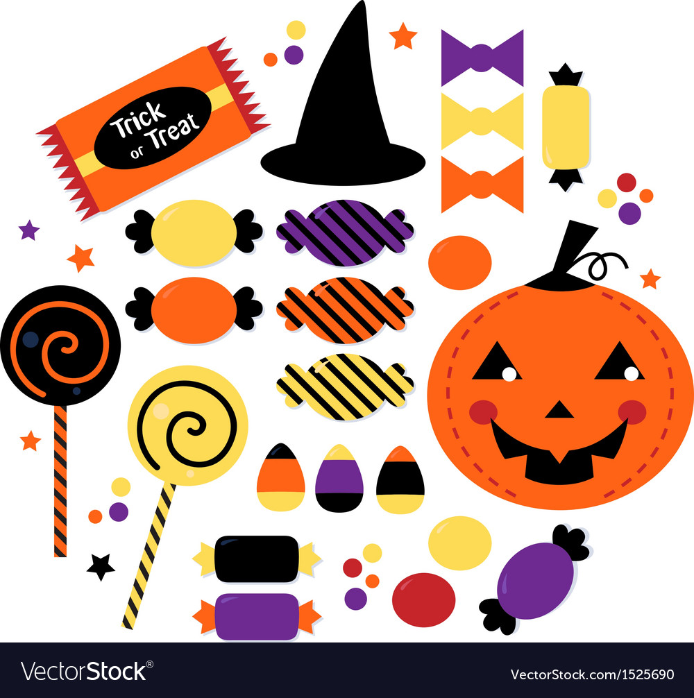 Halloween cute sweet Candy collection