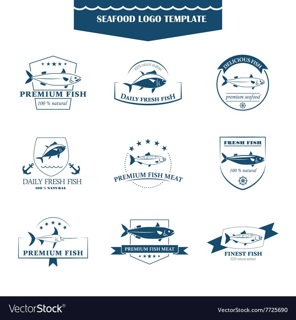 Seafood logos template