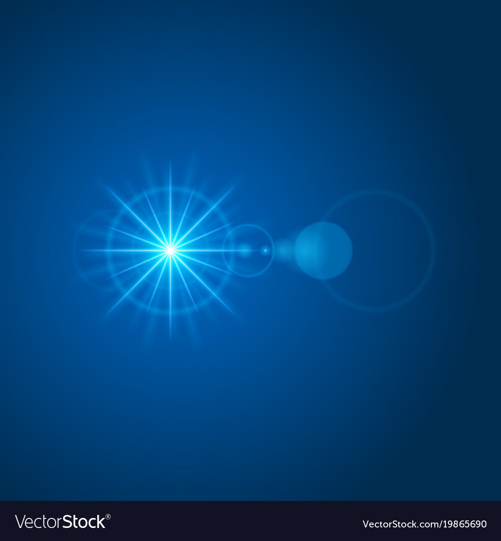 Sun with lens flare lights template and