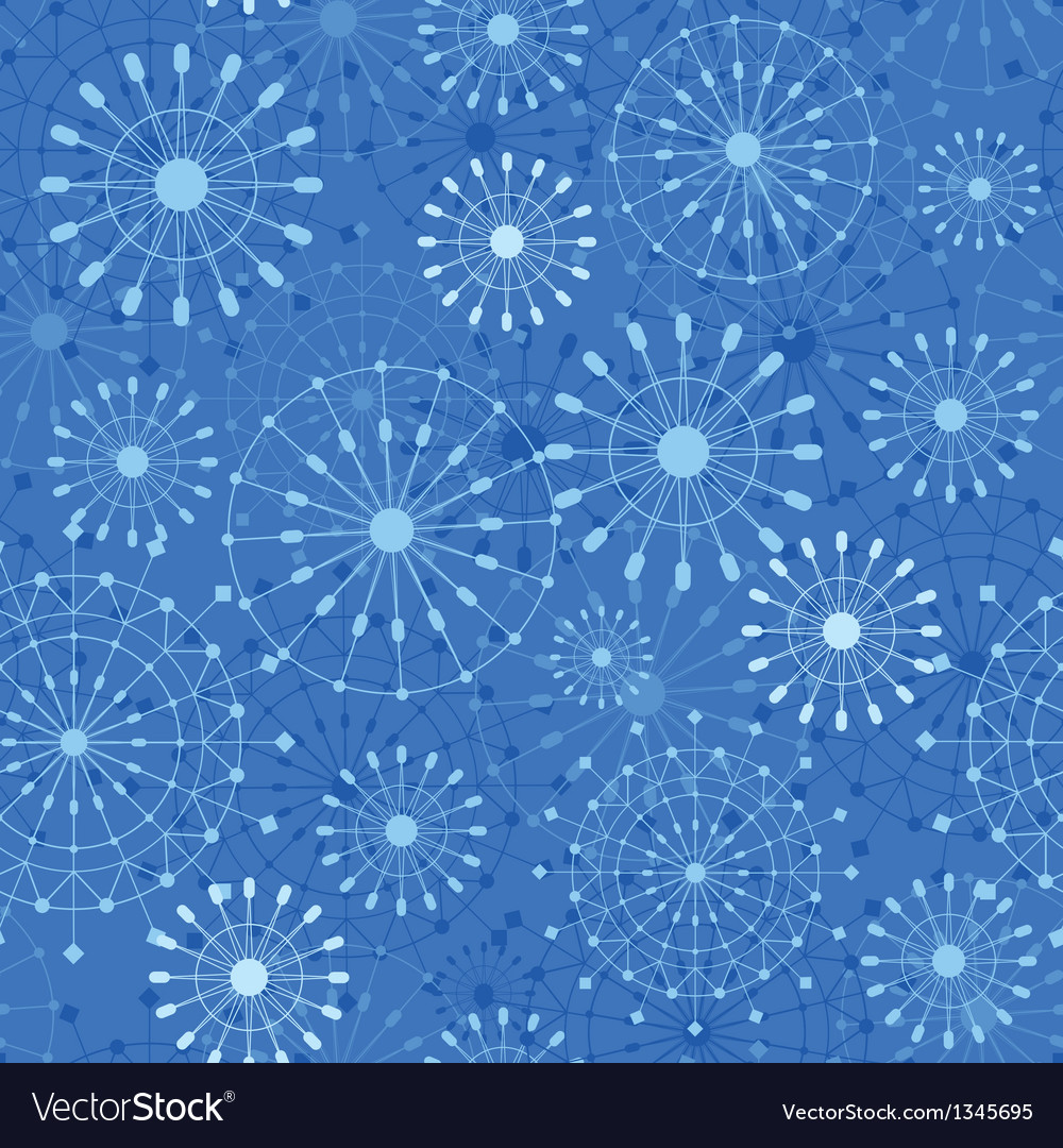 Abstract Snowflakes Seamless Pattern Background