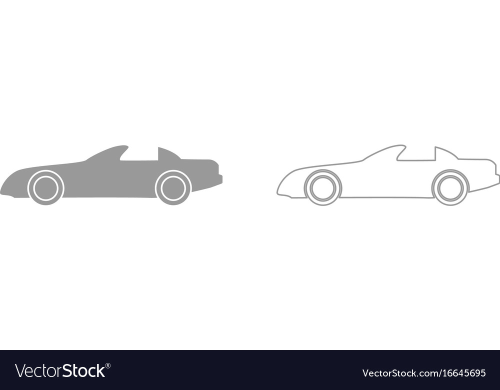 Car grey set icon