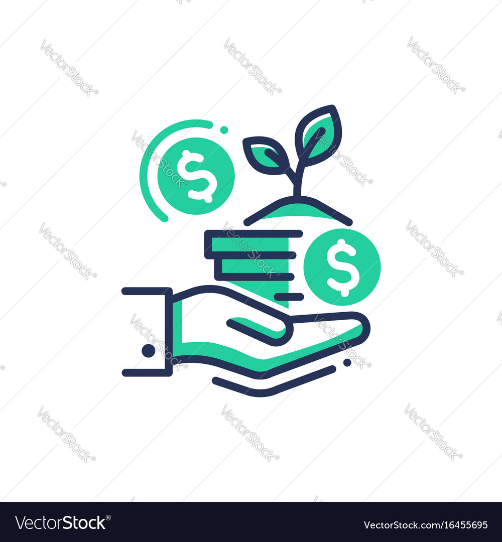 Donation - modern single line icon