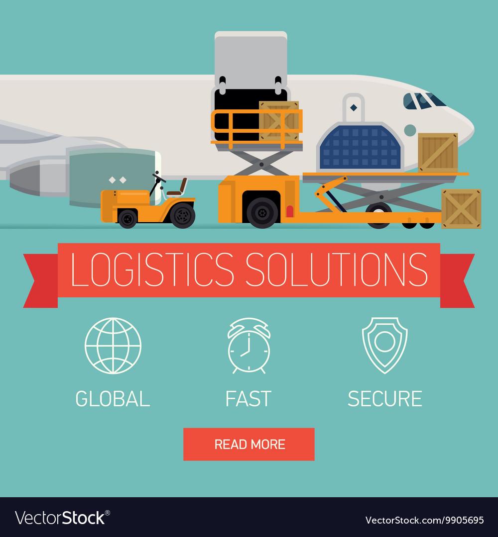 Logistics Solutions vector image