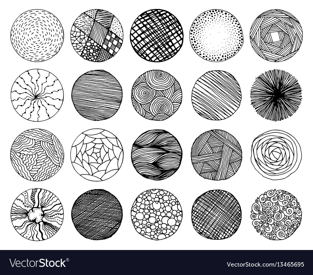 Set of pencil hand drawn doodle borders vector image