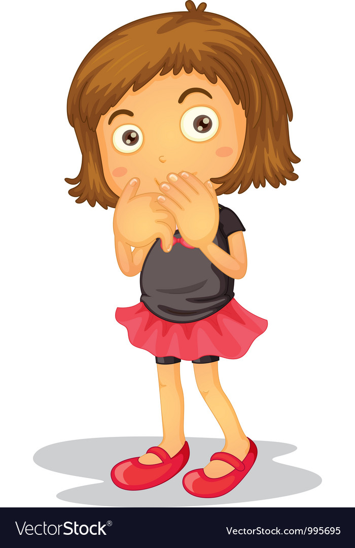 Shy Young Girl vector image