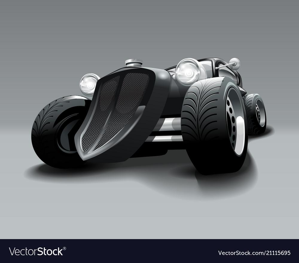Vintage hot rod custom black classic car
