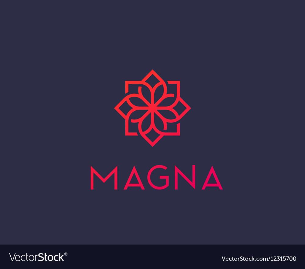 Abstract flower swirl logo icon design Elegant vector image