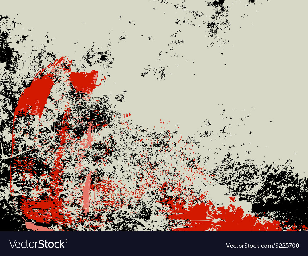 Abstract grunge background ink splashes in red and