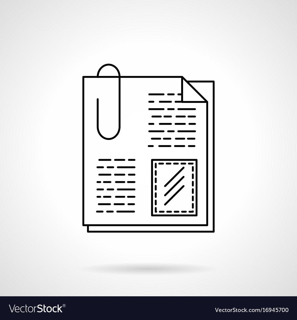 Attachment files flat line icon