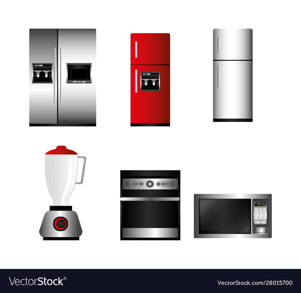 Bundle home appliances kitchen set icons