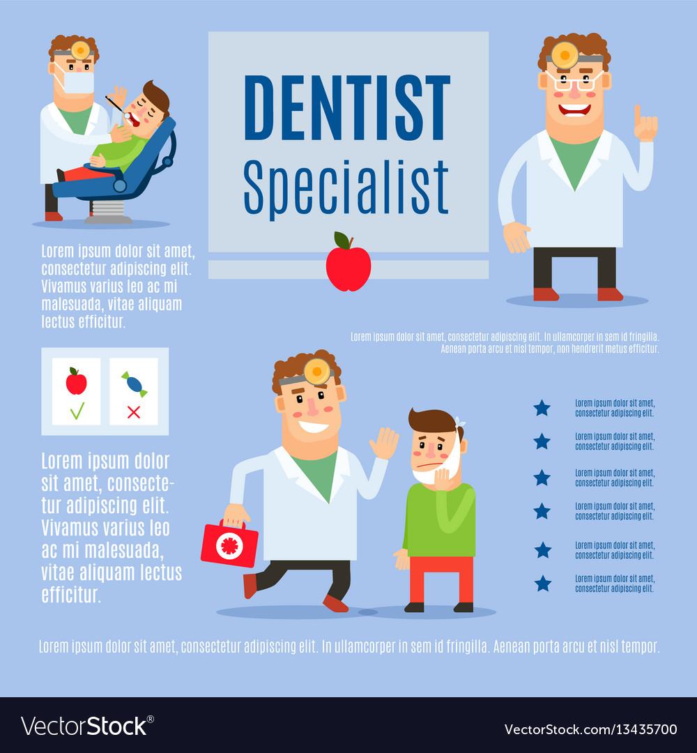 Dentist specialist infographic design