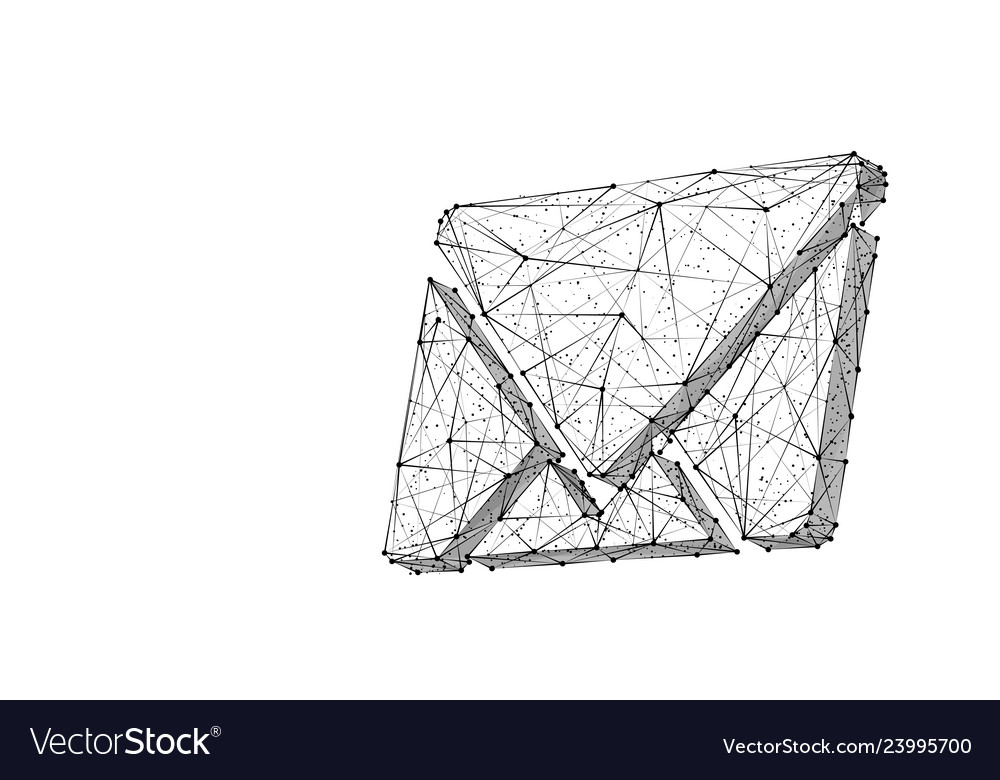 Email low poly black