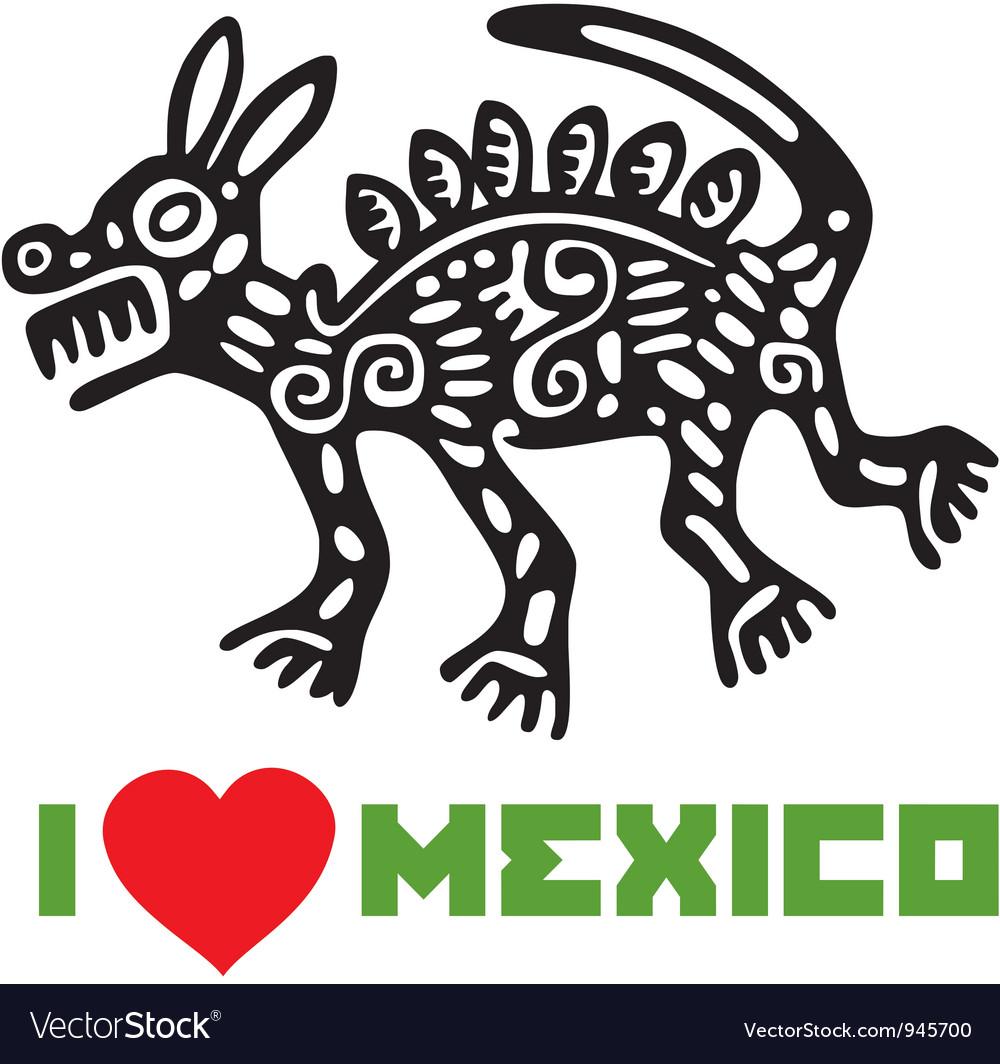 I Love Mexico Template Design