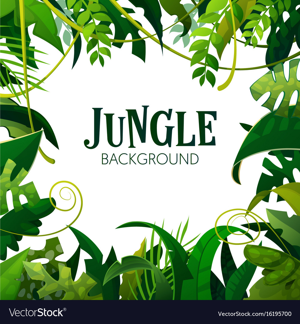jungle tropical leaves background royalty free vector image clip art subscription clip art subscription
