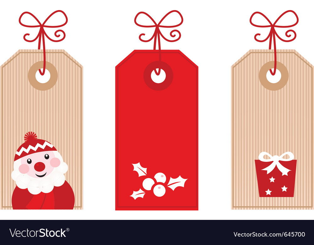 Christmas Gift Tag.Retro Christmas Gift Tags