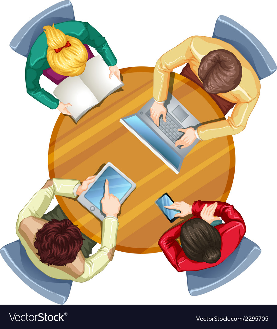 A topview of busy people vector image
