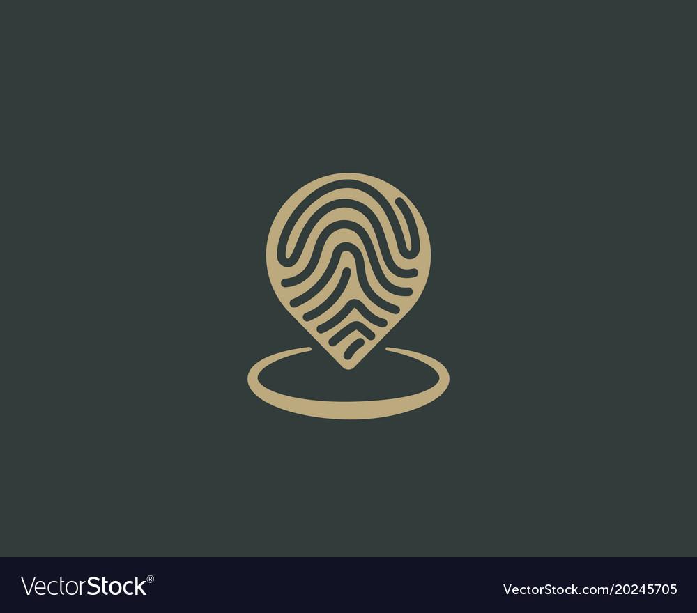 Abstract pin logo design location creative symbol Vector Image