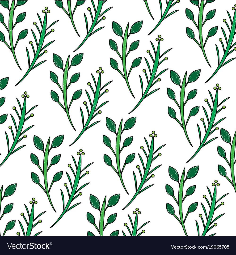 Branches plant floral decoration pattern