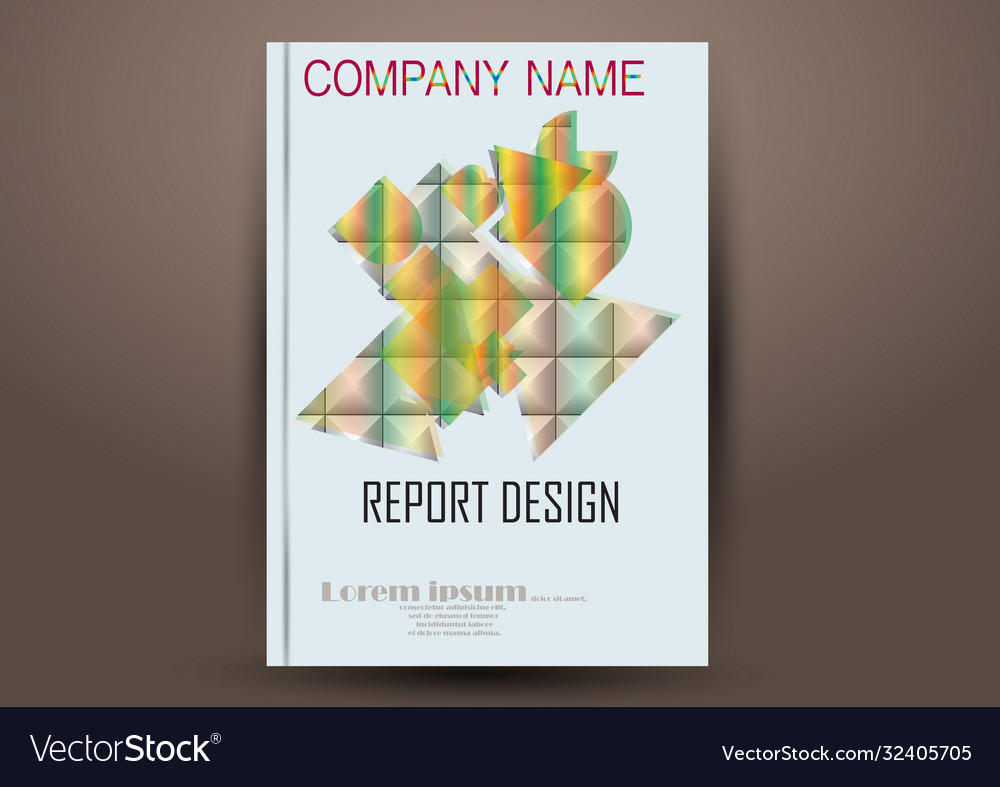 Cover design template annual report cover flyer