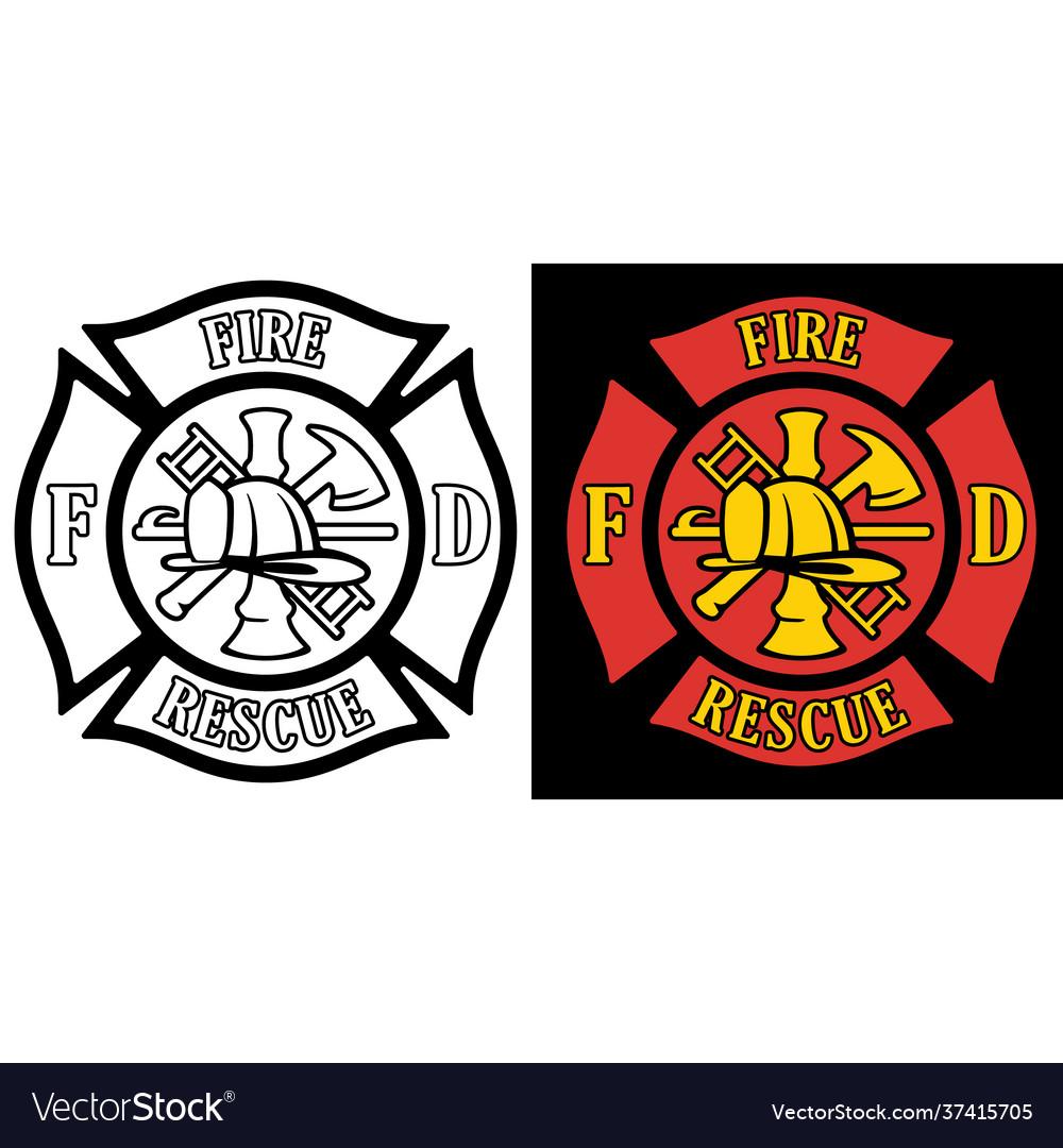 Firefighter rescue maltese florian cross