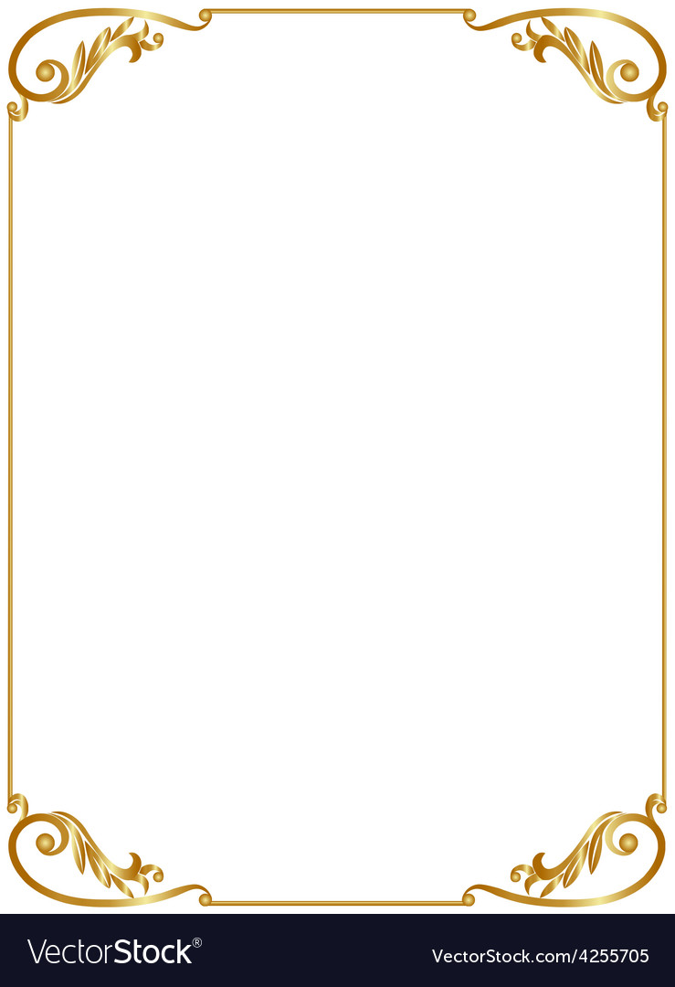 Gold frame Royalty Free Vector Image VectorStock