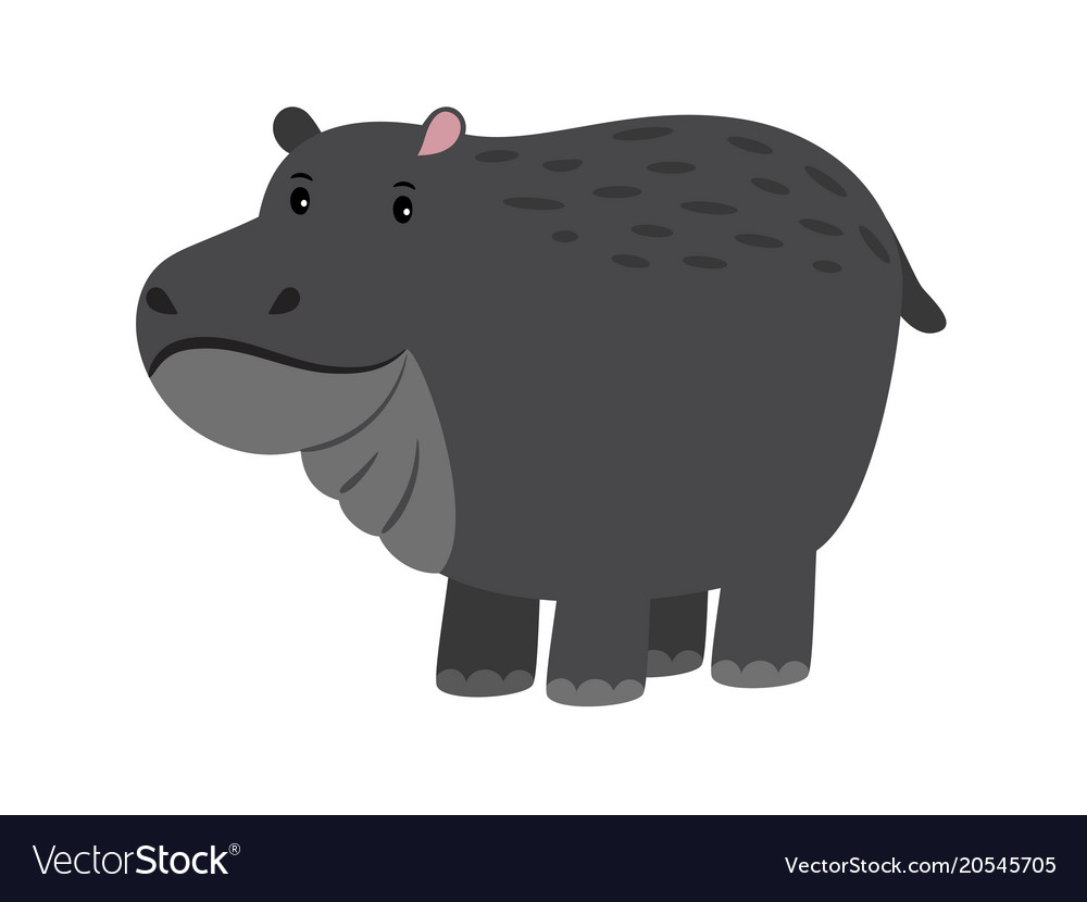 Hippo cute cartoon hippopotamus adorable