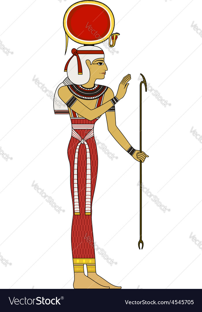 Isis Isolated figure of ancient egypt god vector image