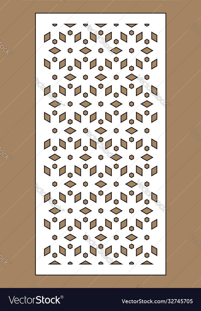 Laser pattern decorative panels for laser