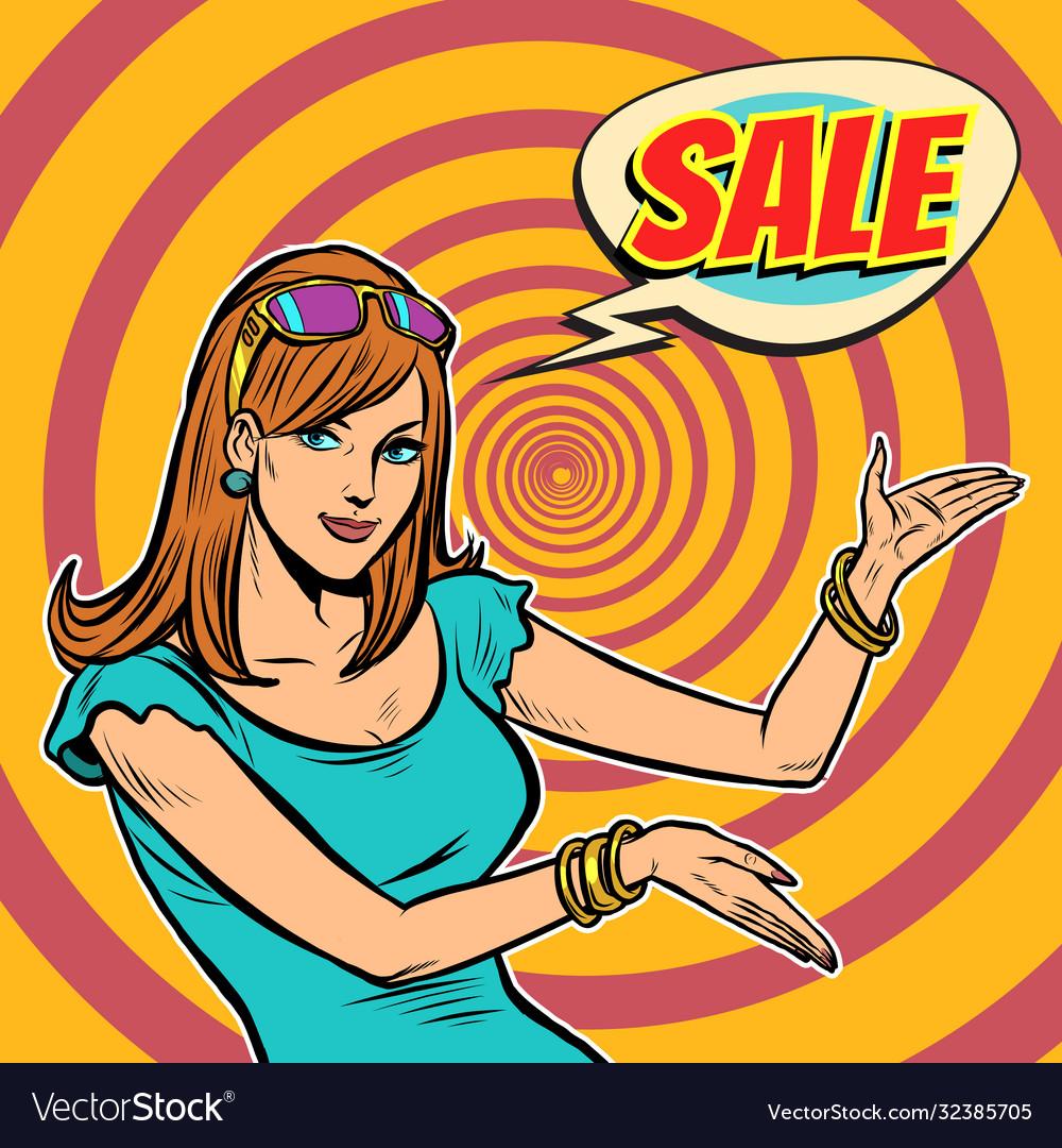 Sale pop art woman