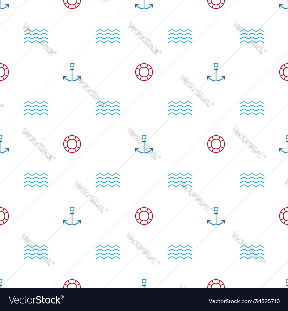 A graphic endless pattern with a marine theme
