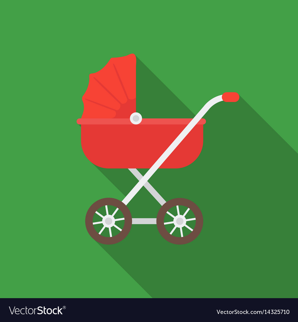 Baby transport icon in flat style isolated on