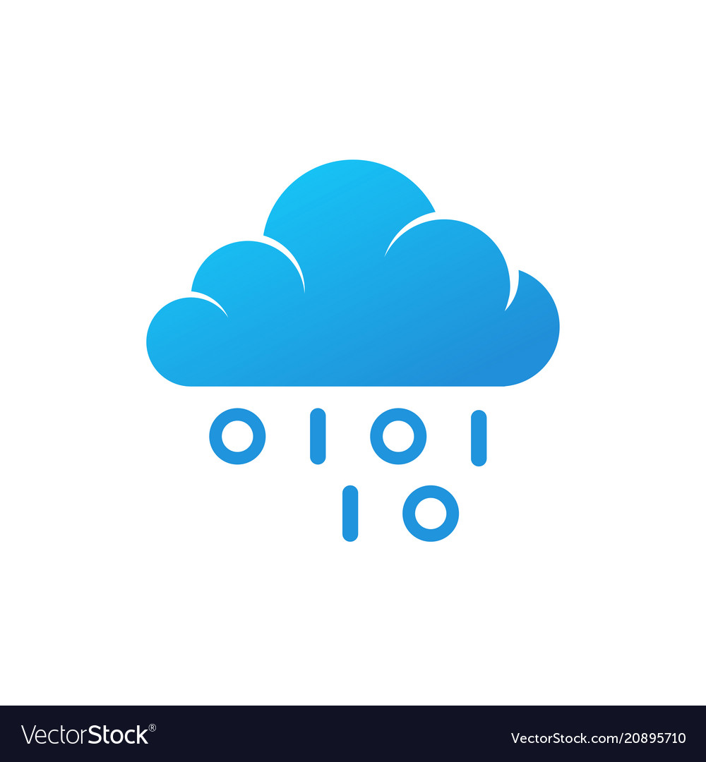 Coding logo blue cloud isolated icon with