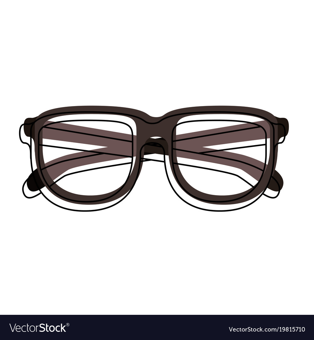 05272dd61f5 Glasses with brown frame in watercolor silhouette Vector Image