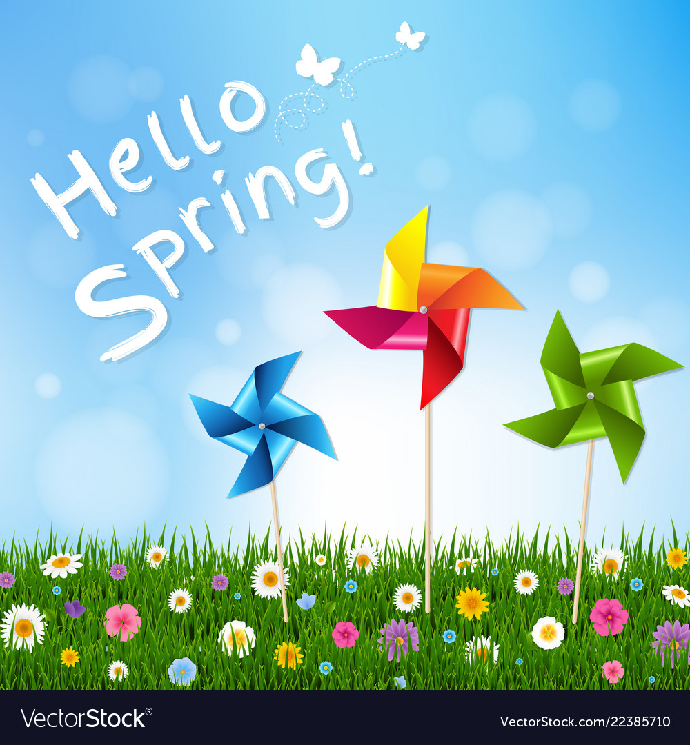 Happy spring card Royalty Free Vector Image - VectorStock