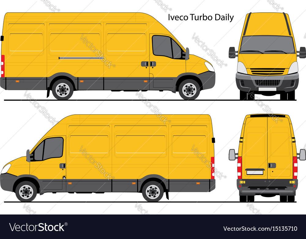Iveco turbo daily cargo van Royalty Free Vector Image