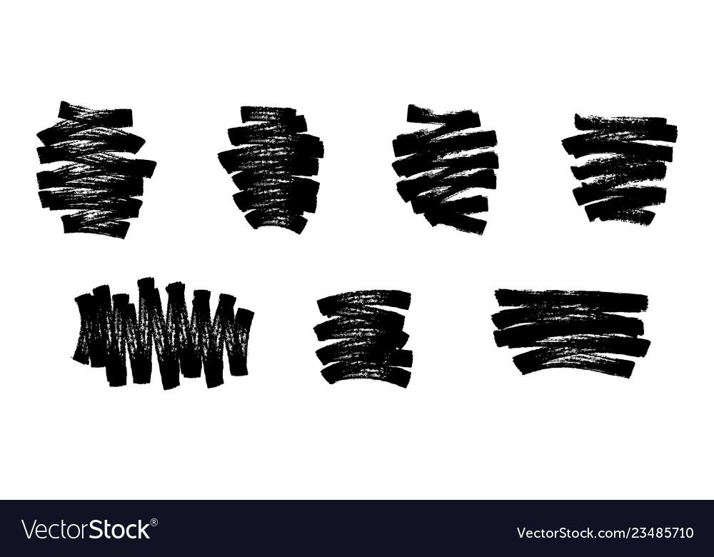 Marker strokes set abstract