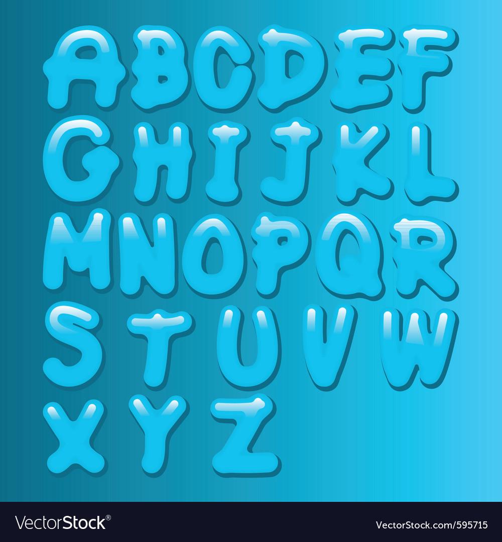 Aqua font vector image